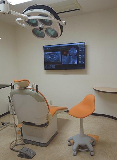 手術設備を備えた個室